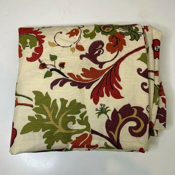 World Market Curtain 1 Panel 100% Cotton Floral pa